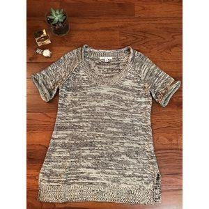CAbi Gray Marle Tunic Vest